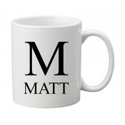 Personalised Mug - Initial & Name
