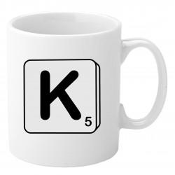 Personalised Mug - Scrabble (Black & White)