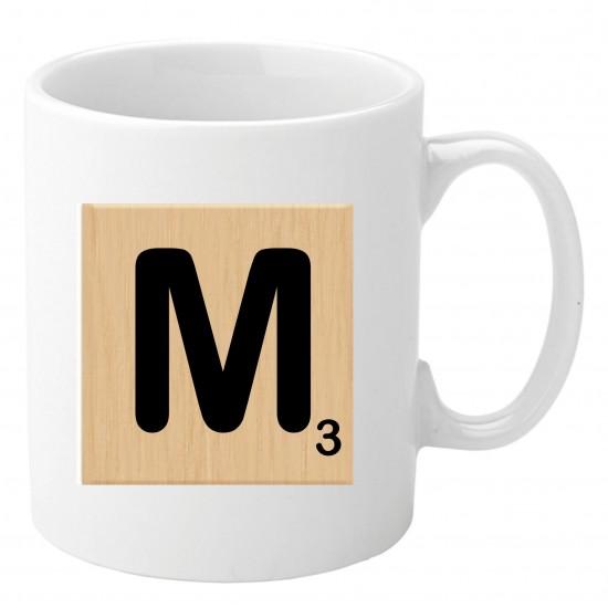 Personalised Mug - Scrabble (Wooden)